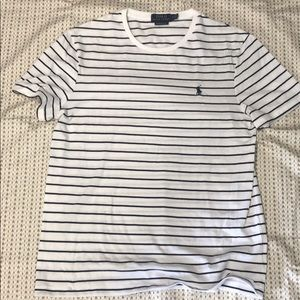 Polo Ralph Lauren Tshirt White/Black sz L slim fit
